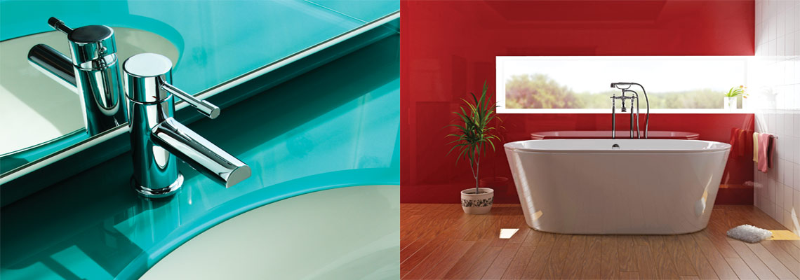 Glass splashbacks back painted glass choose any colour for Back painted glass panels