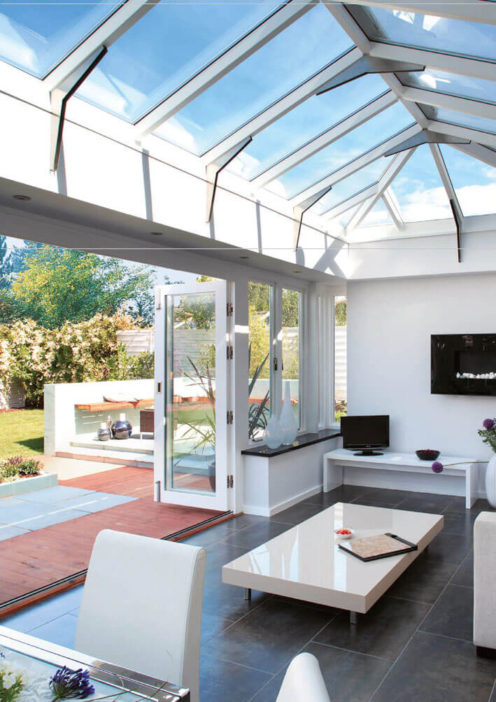 neutral tinted conservatory roof glass
